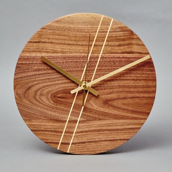 Round Wooden Wall Clock Beveledge