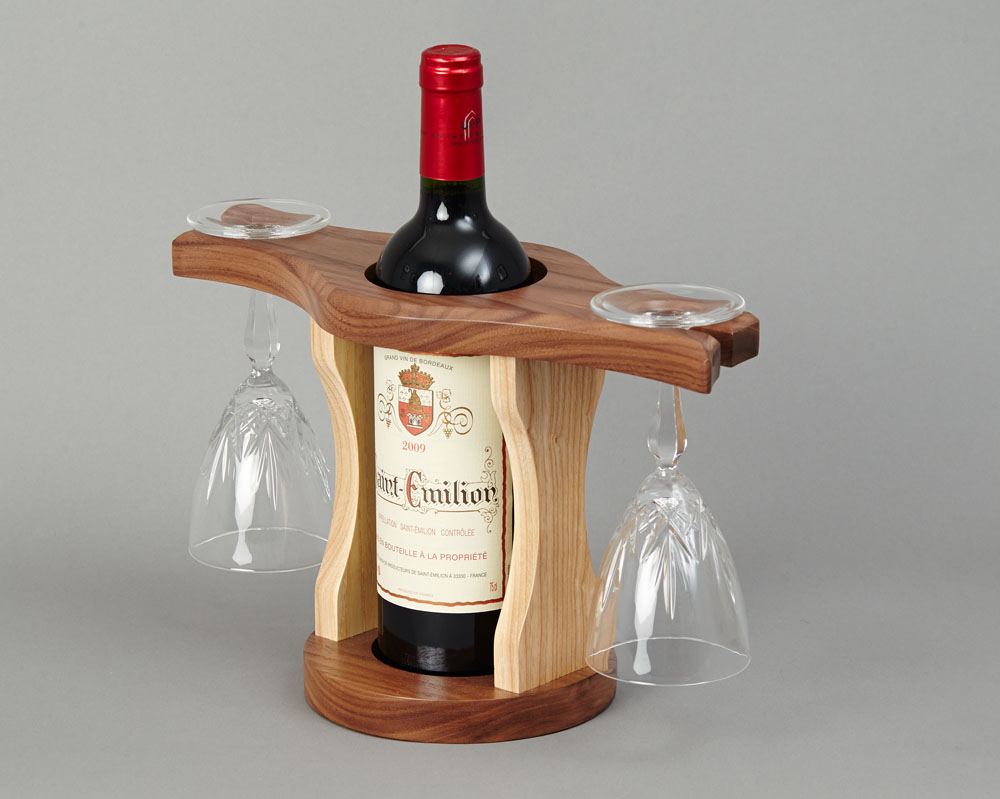 Wine Bottle Amp Glass Holder