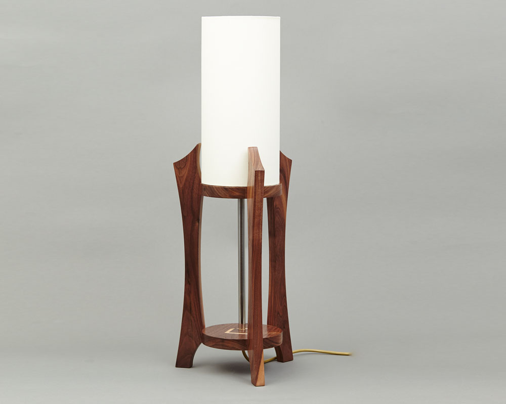 Wooden table lamp beveledge for Lamp wooden