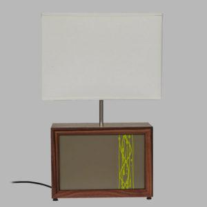 Beveledge wooden lamp