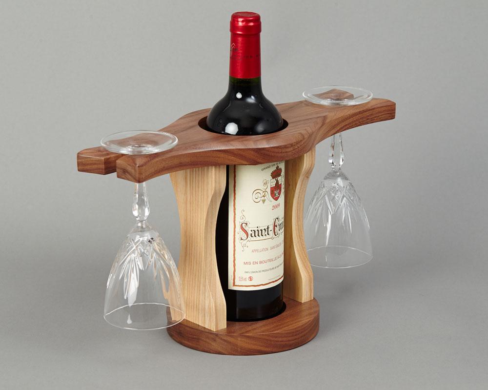 Wine Bottle Amp Glass Holder Beveledge