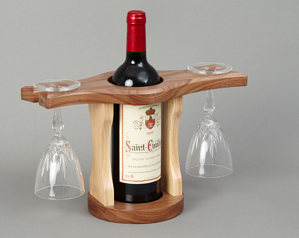 Wine Bottle Glass Holder Beveledge